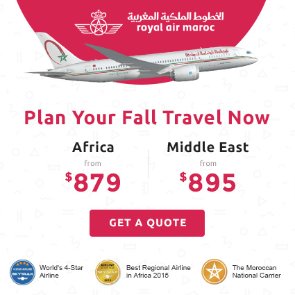 Plan Your Fall Travel Now - Fly with Royal Air Maroc at 50% OFF